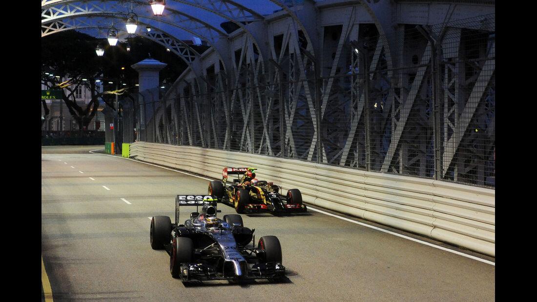 Magnussen & Maldonado - Formel 1 - GP Singapur - 20. September 2014
