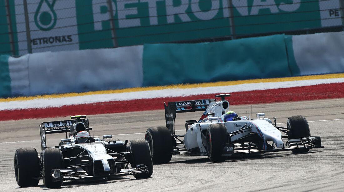 Magnussen & Massa - GP Malaysia 2014