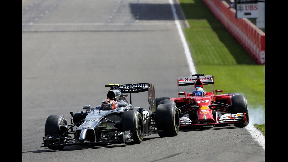 Magnussen vs. Alonso - GP Belgien 2014
