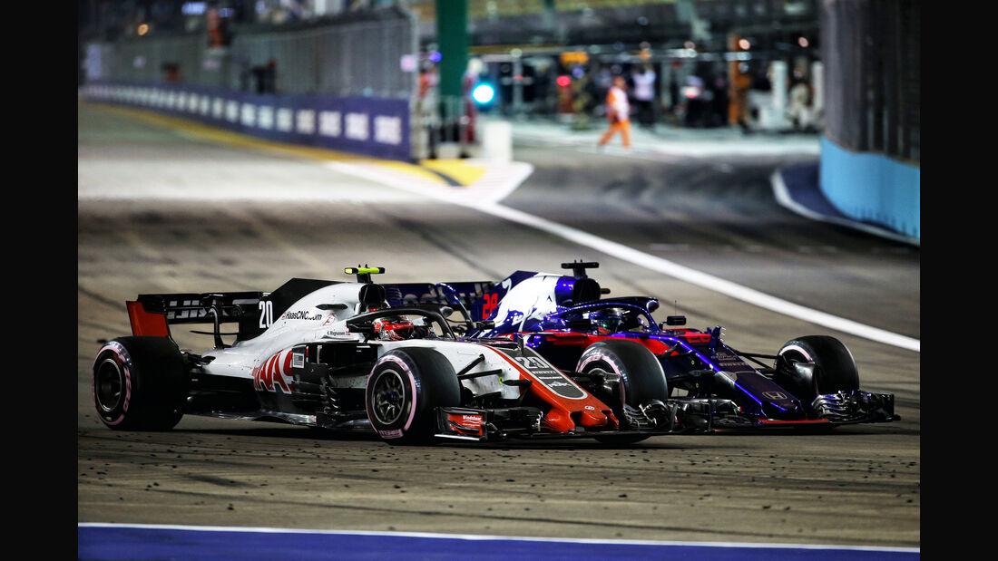 Magnussen vs. Hartley - GP Singapur 2018