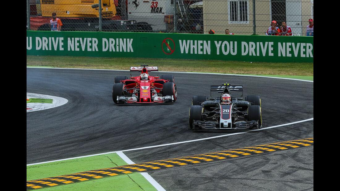 Magnussen vs. Vettel - Formel 1 - GP Italien - Monza - 1. September 2017