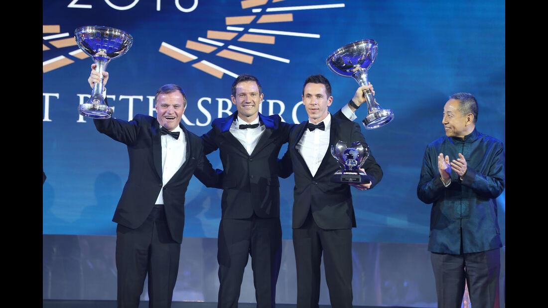 Malcom Wilson - Sebastien Ogier - Julien Ingrassia - FIA - Preisverleihung - St. Petersburg