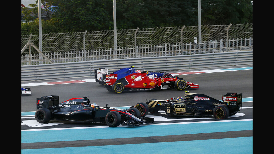 Maldonado & Alonso - GP Abu Dhabi 2015