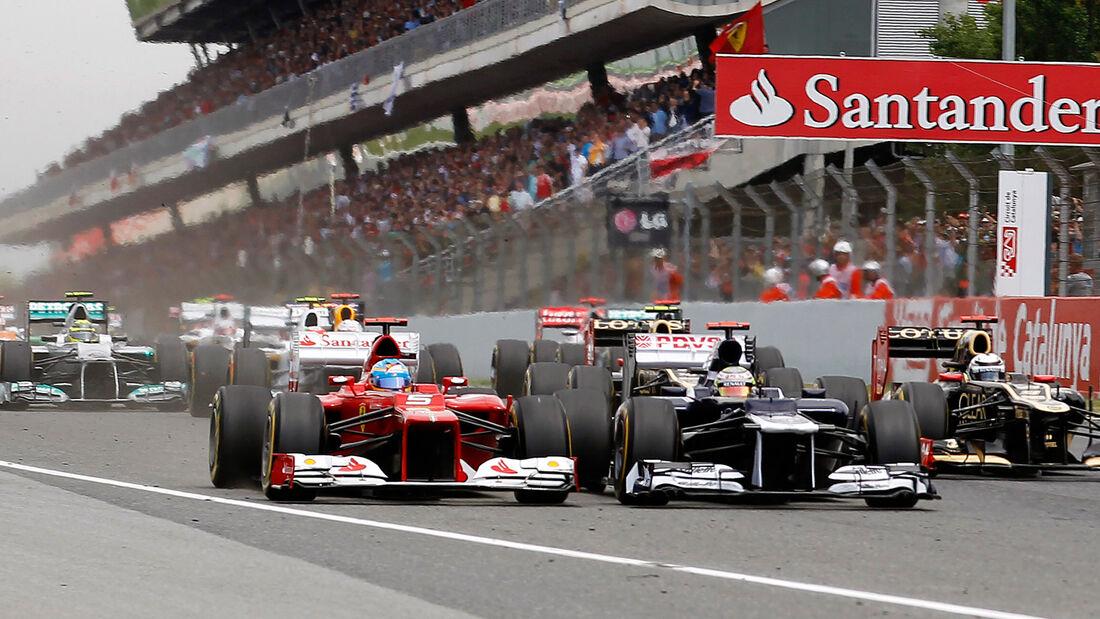 Maldonado & Alonso GP Spanien 2012 Start