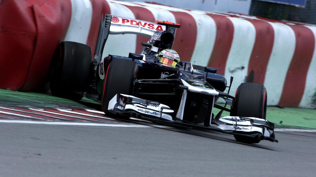 Maldonado Crash GP Kanada 2012