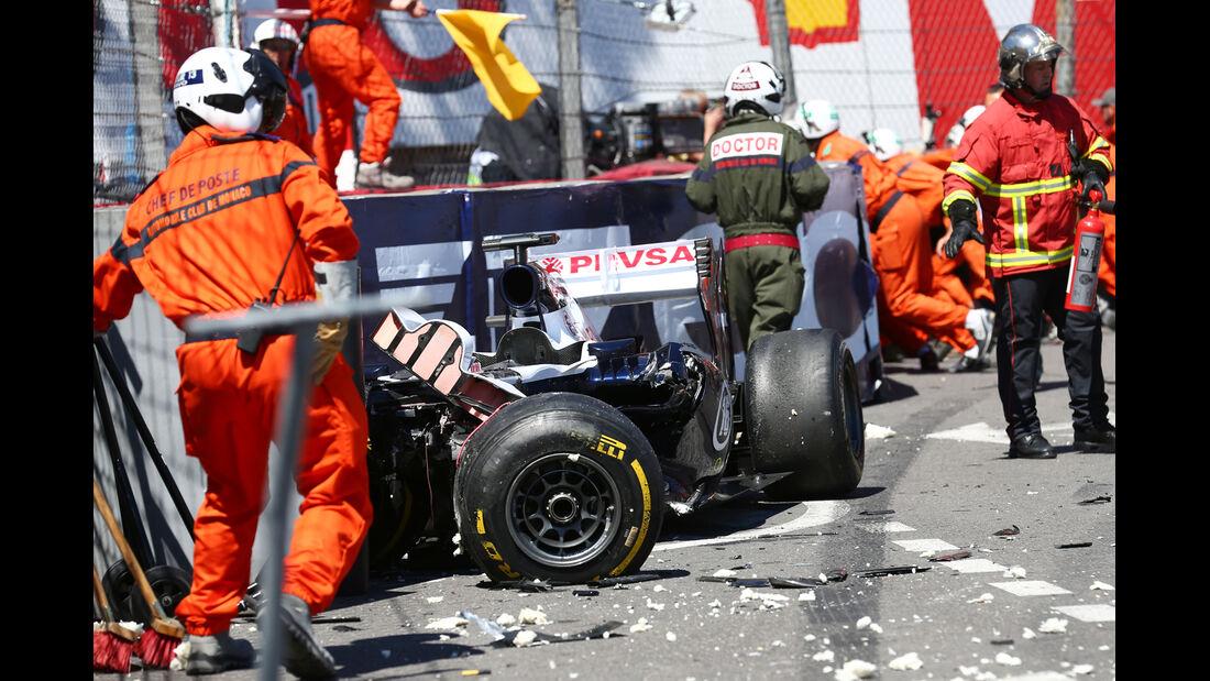 Maldonado - GP Monaco - Crash - 2013