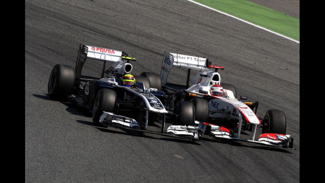 Maldonado Kobayashi GP Spanien 2011