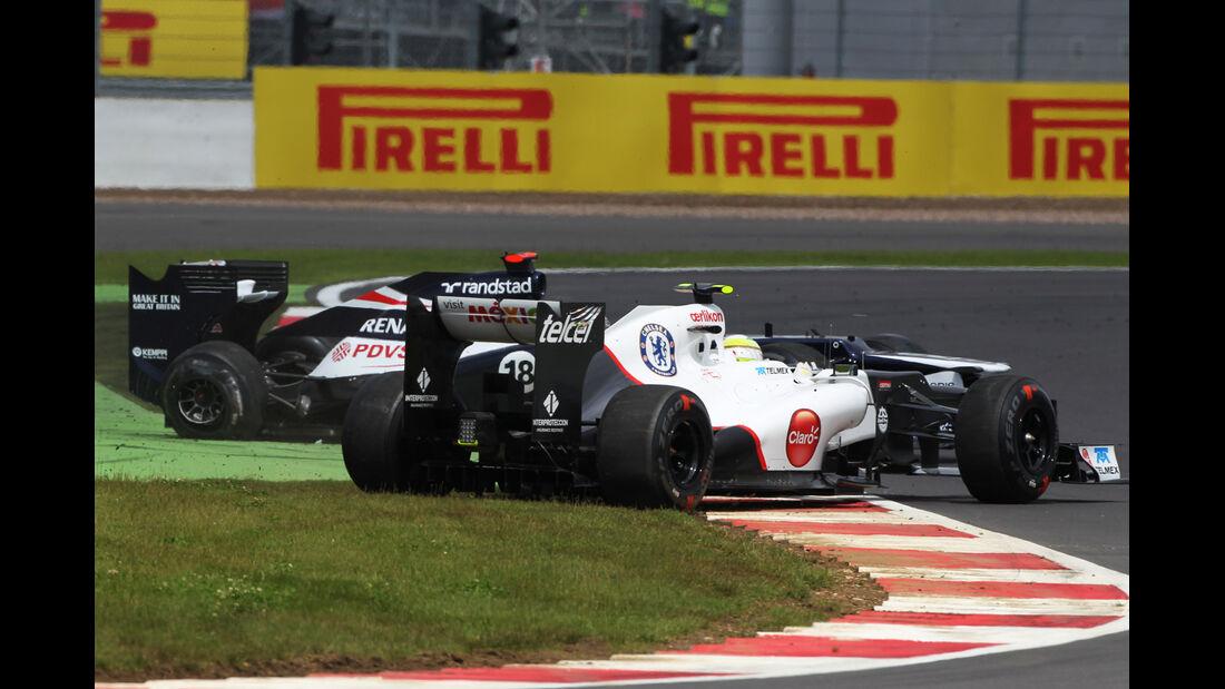 Maldonado Perez GP England 2012
