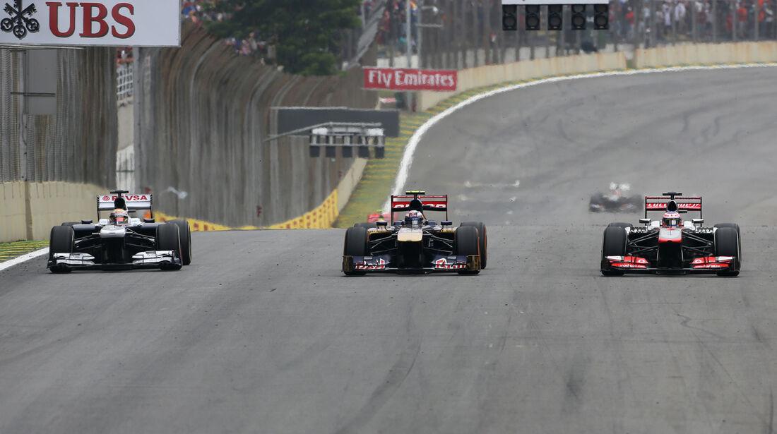 Maldonado, Ricciardo & Button - GP Brasilien 2013