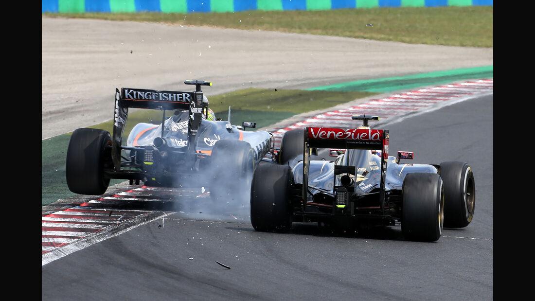 Maldonado vs. Perez - GP Ungarn 2015
