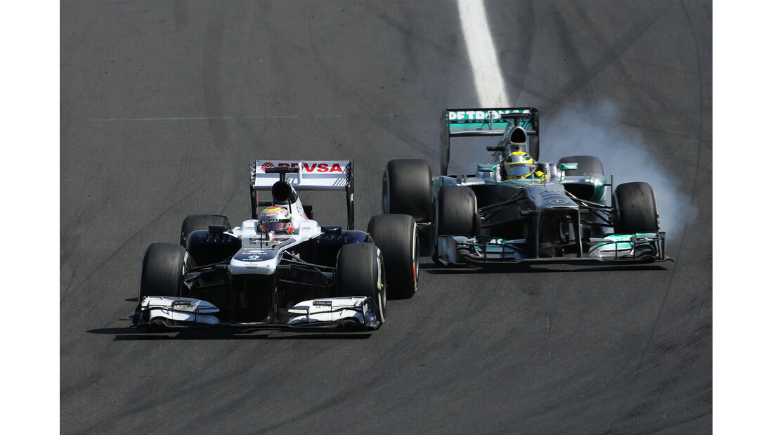 Maldonado vs. Rosberg - Formel 1 - GP Ungarn 2013
