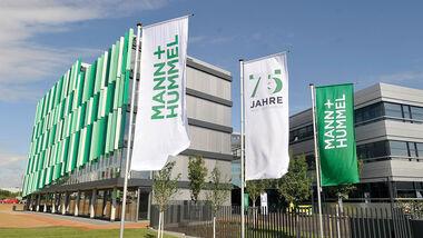 Mann + Hummel Firmenzentrale logo