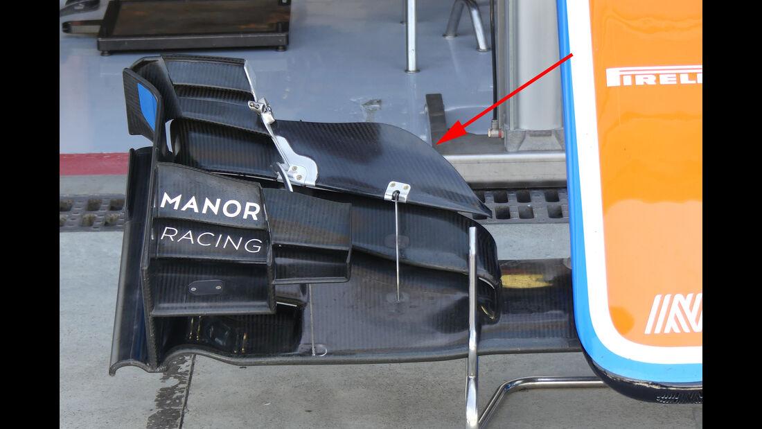 Manor - Formel 1-Technik - GP Belgien / GP Italien - 2016