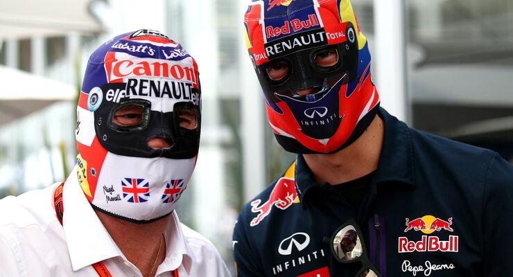 Mansell & Kvyat - GP Mexiko 2015