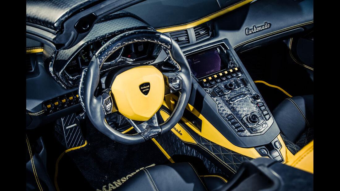 Mansory-Lamborghini Aventator Carbonada, Cockpit, Lenkrad