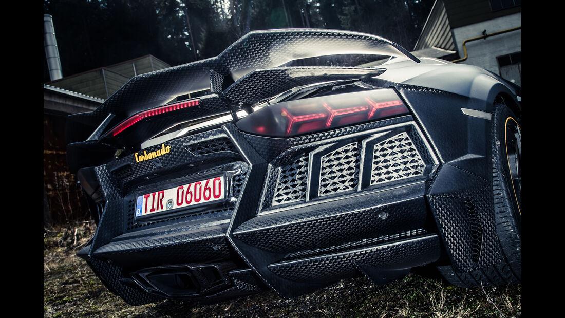 Mansory-Lamborghini Aventator Carbonada, Heck, Heckleuchte