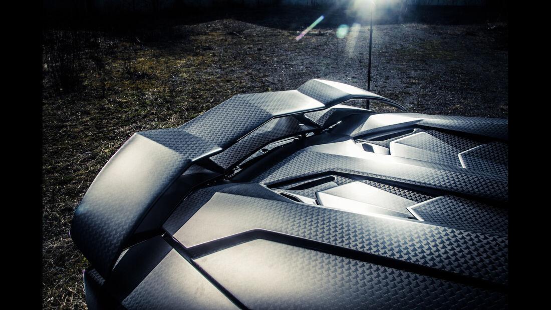 Mansory-Lamborghini Aventator Carbonada, Heckspoiler
