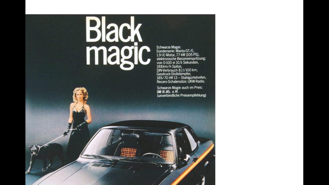 Manta A Black Magic Werbung