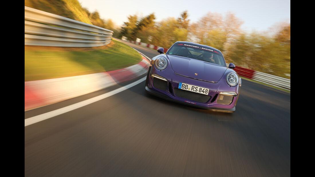 Manthey-Porsche GT3 RS MR, Supertest, Nürburgring-Nordschleife
