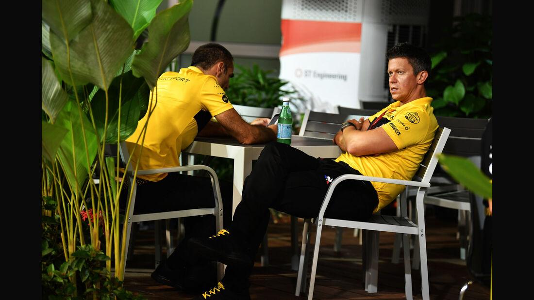 Marcin Budkowski - Cyril Abiteboul - Renault - GP Singapur 2018