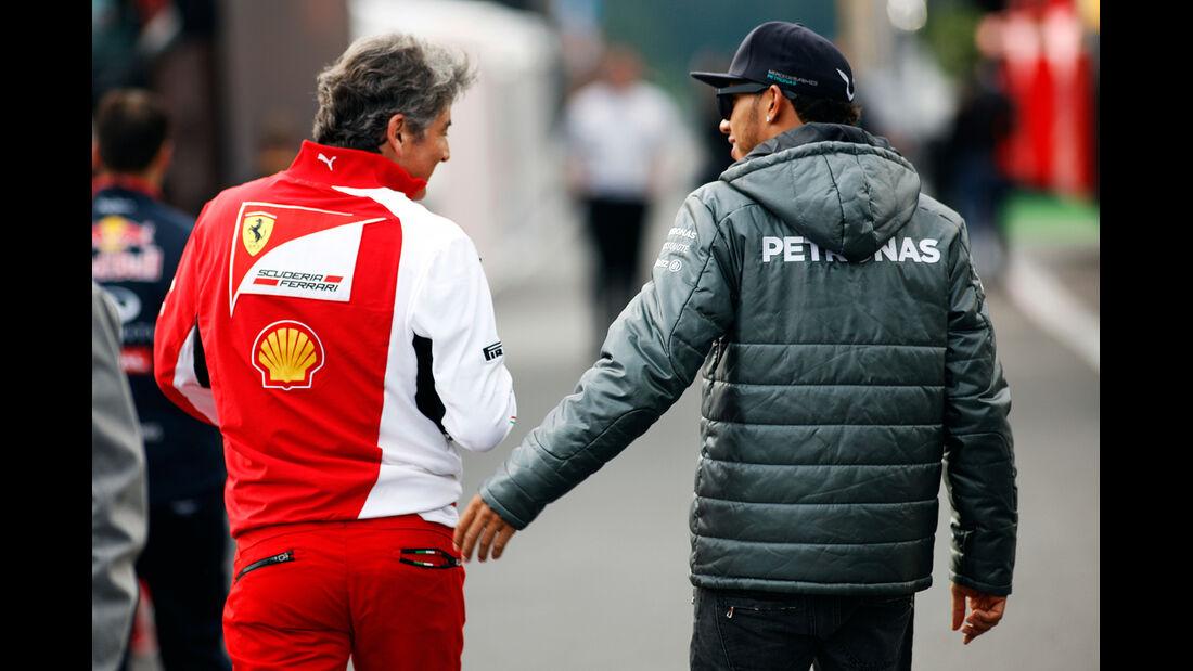 Marco Mattiacci & Lewis Hamilton - Formel 1 - GP Belgien - Spa-Francorchamps - 22. August 2014