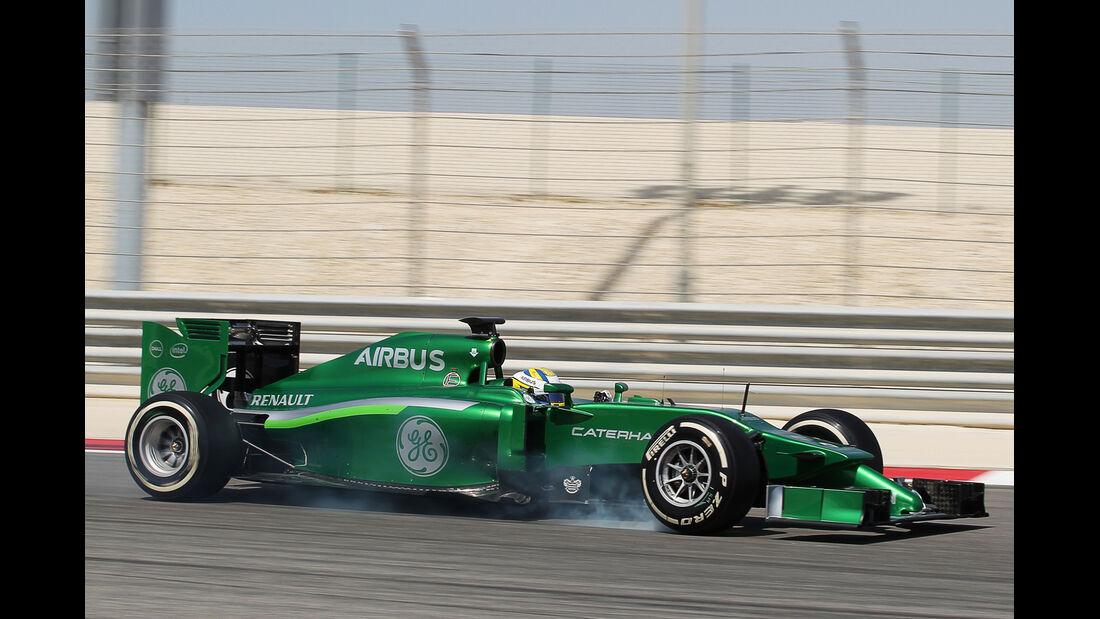 Marcus Ericsson - Caterham - Formel 1 - Bahrain - Test - 1. März 2014