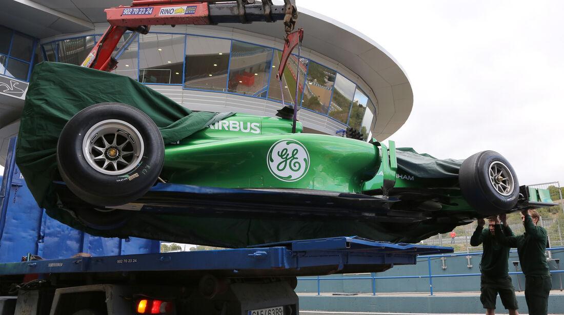 Marcus Ericsson - Caterham - Formel 1 - Test - Jerez - 29. Januar 2014