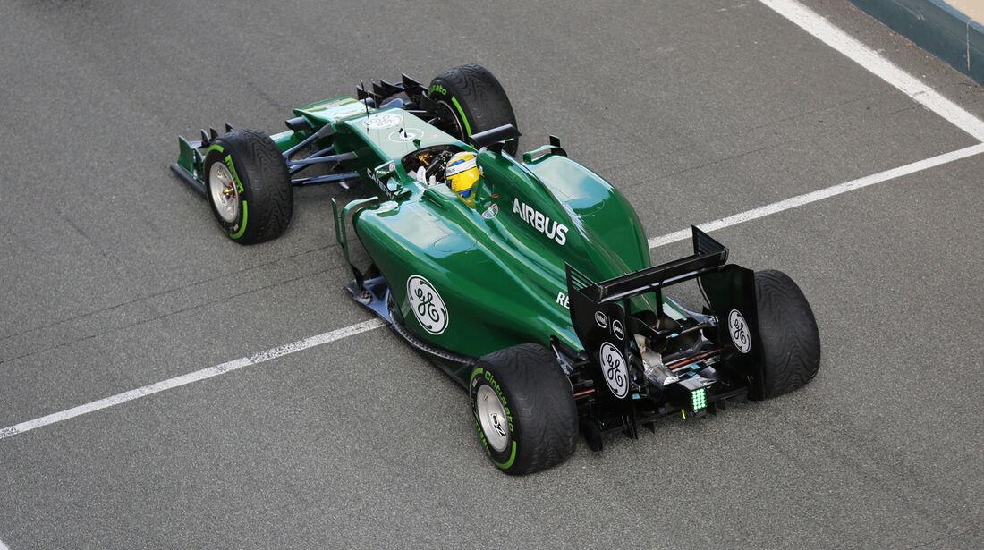 Marcus Ericsson - Caterham - Jerez - Formel 1 - Test - 29. Januar 2014