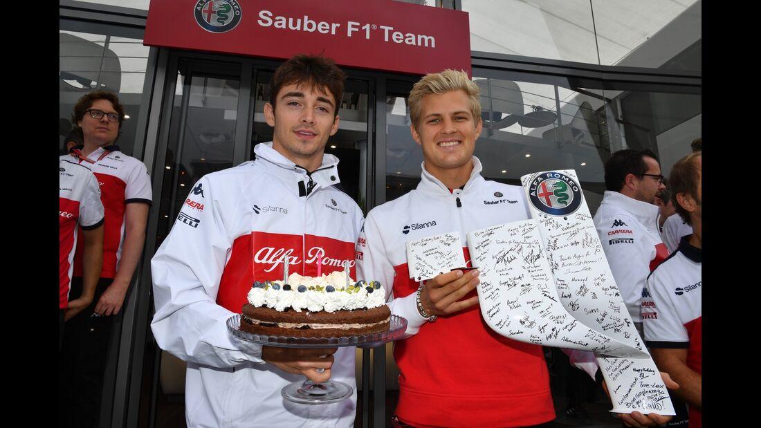 Marcus Ericsson - Charles Leclerc - Sauber - Formel 1 - GP Italien - 02. September 2018
