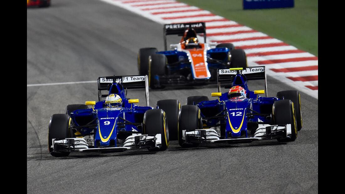 Marcus Ericsson & Felipe Nasr - GP Bahrain 2016