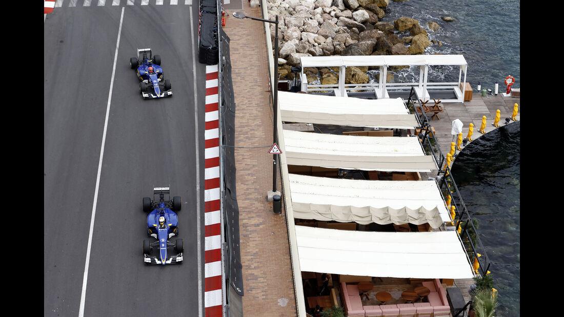 Marcus Ericsson - Felipe Nasr - Sauber - Formel 1 - GP Monaco - Samstag - 23. Mai 2015