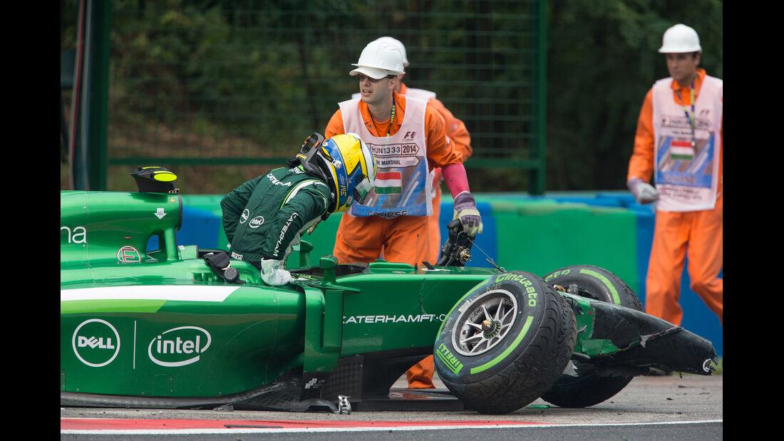 Marcus Ericsson - GP Ungarn - Crashs 2014