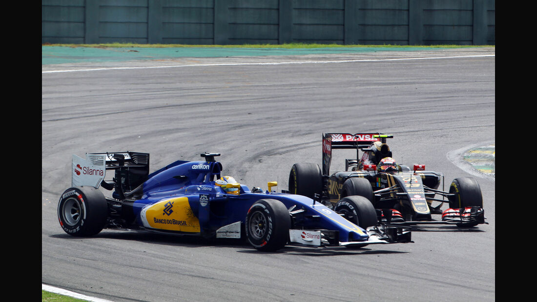 Marcus Ericsson - Pastor Maldonado - Formel 1 - GP Brasilien- 15. November 2015