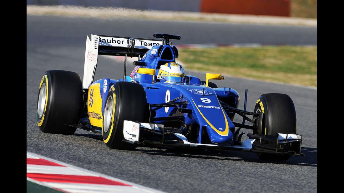 Marcus Ericsson - Sauber - Fomel 1-Test - Barcelona - 28. Februar 2015