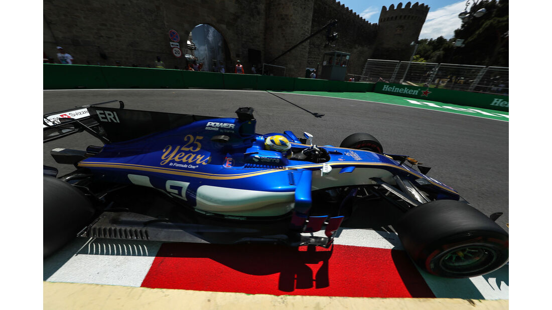 Marcus Ericsson - Sauber - Formel 1 - GP Aserbaidschan 2017 - Training - Freitag - 23.6.2017