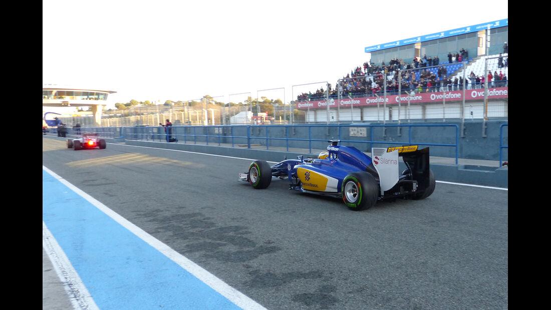 Marcus Ericsson - Sauber - Formel 1-Test Jerez - 1. Januar 2015