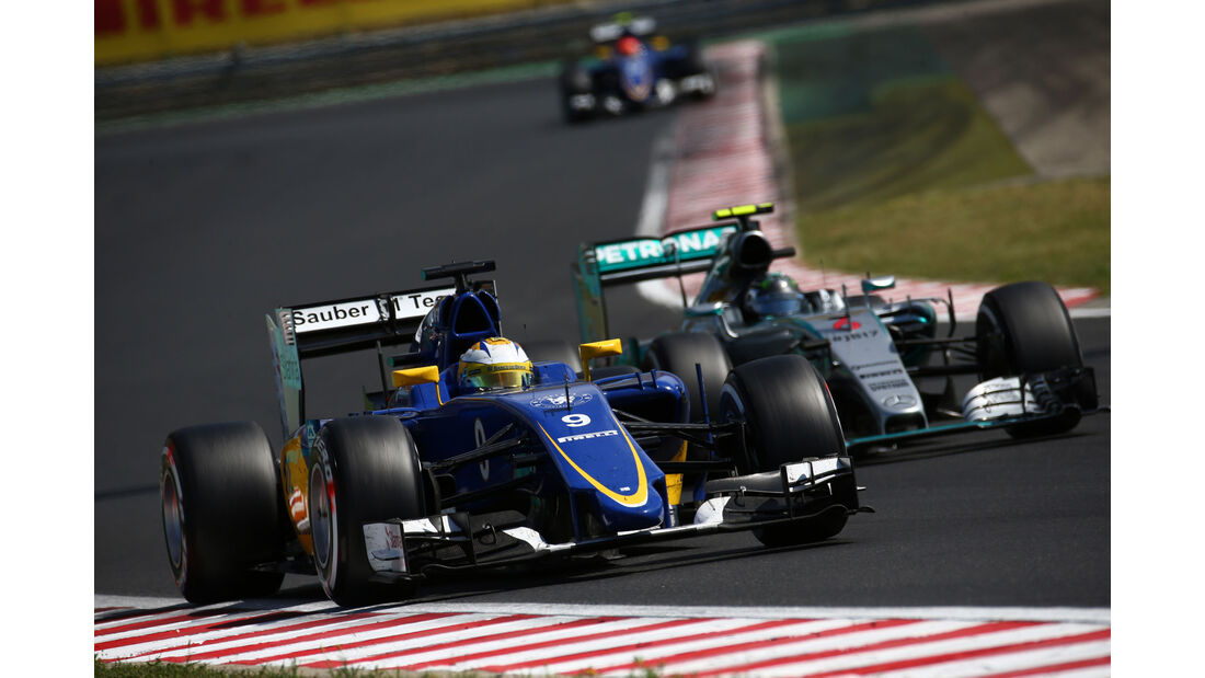 Marcus Ericsson - Sauber - Nico Rosberg - Mercedes - GP Ungarn - Budapest - Rennen - Sonntag - 26.7.2015