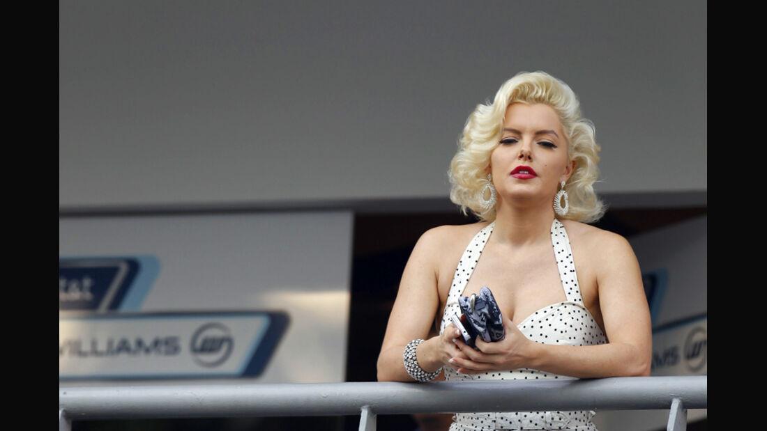 Marilyn Monroe-Double - F1 Singapur