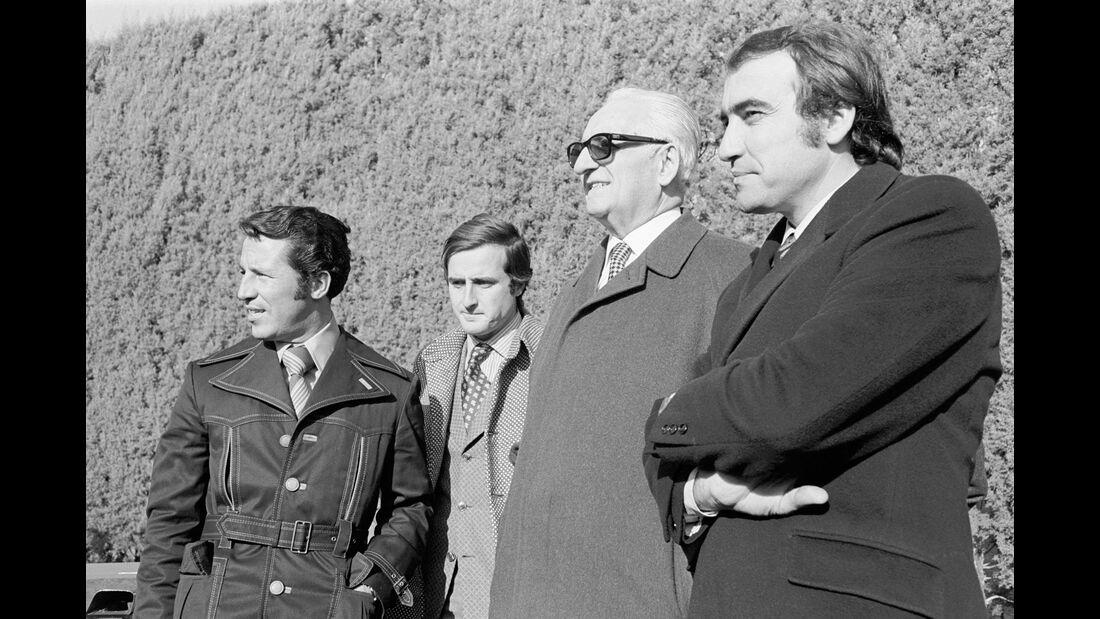 Mario Andretti - Ignazio Giunti - Enzo Ferrari - Clay Regazzoni - 1970