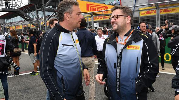 Mario Isola - Paul Hembery - Pirelli - Formel 1