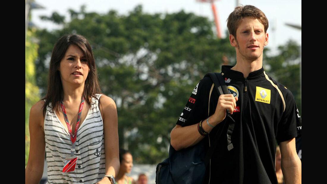 Marion Jolles - Romain Grosjean - Formel 1 - Fahrerfrauen - 1. April 2014