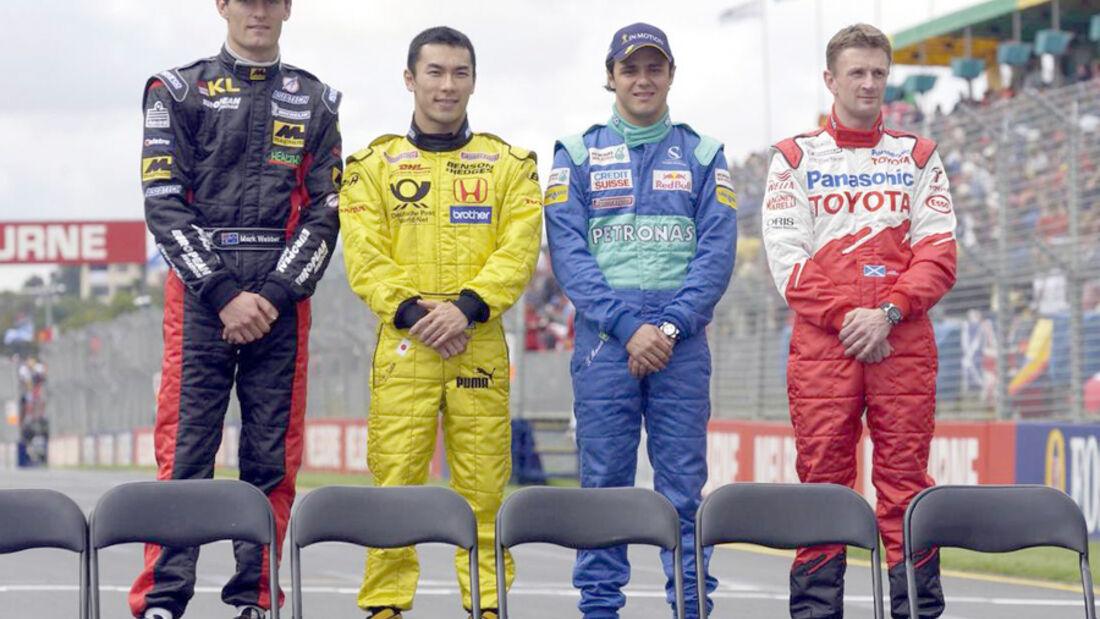 Mark Webber 2002 GP Australien McNish Salo Massa