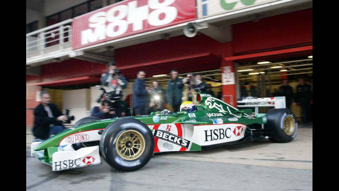 Mark Webber 2002 Jaguar Test