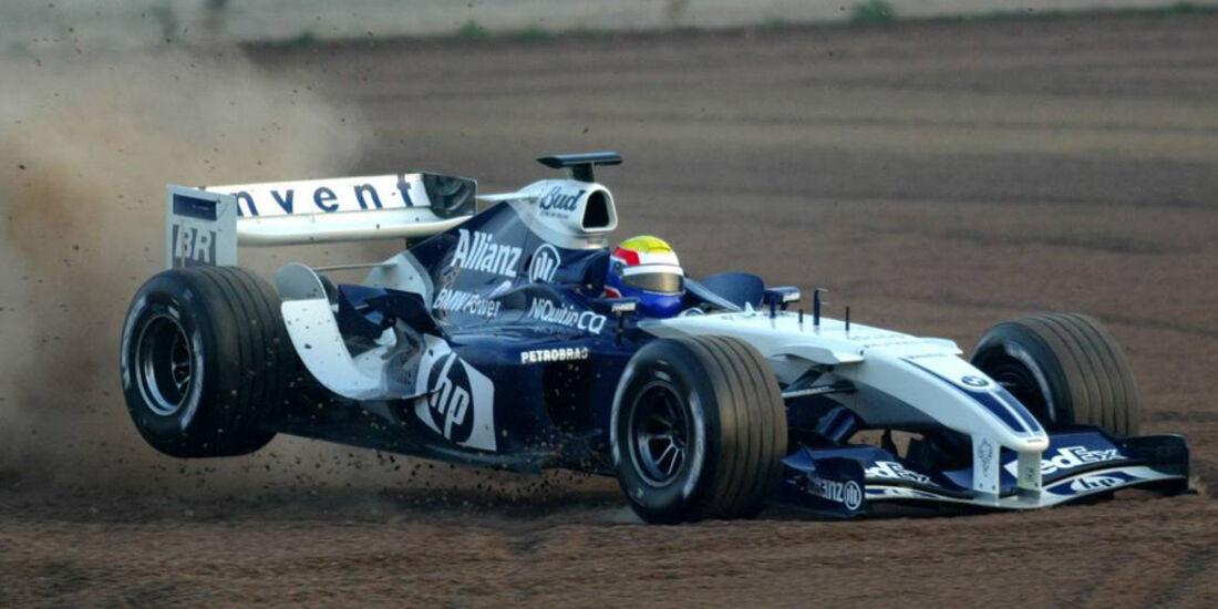 Mark Webber 2004 Tests BMW Williams