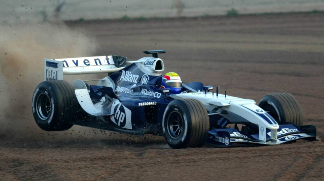 Mark Webber 2004 Tests BMW Williams