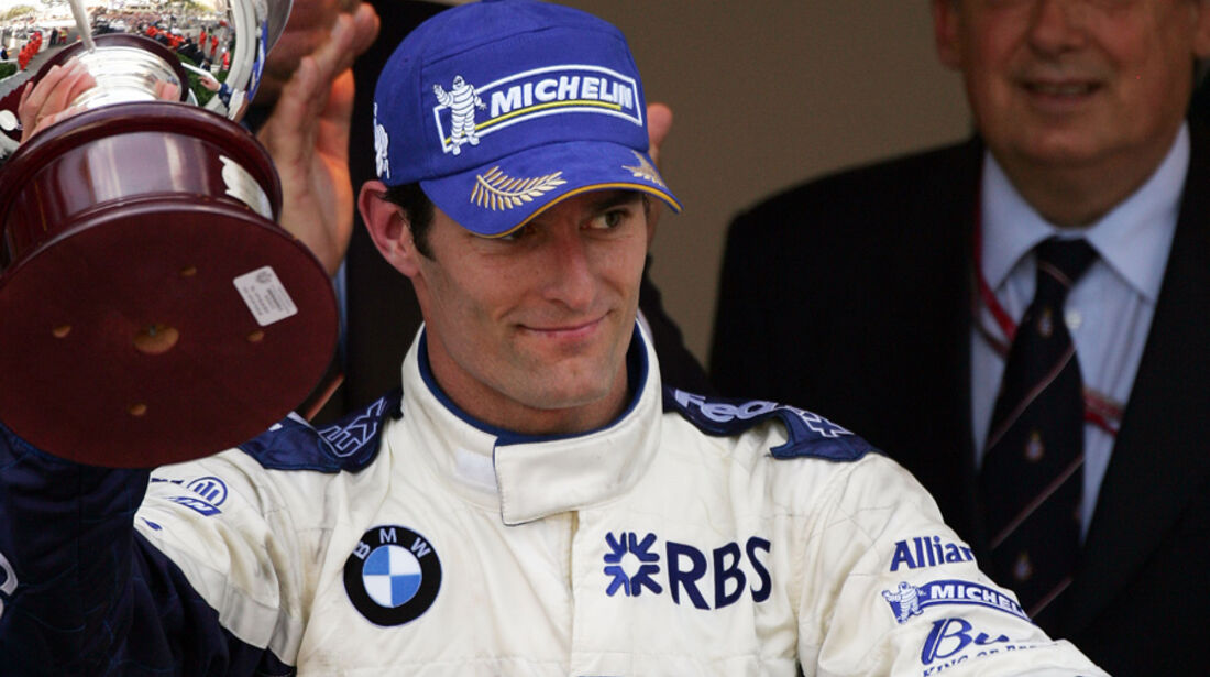 Mark Webber 2005 BMW Williams GP Monaco Podium