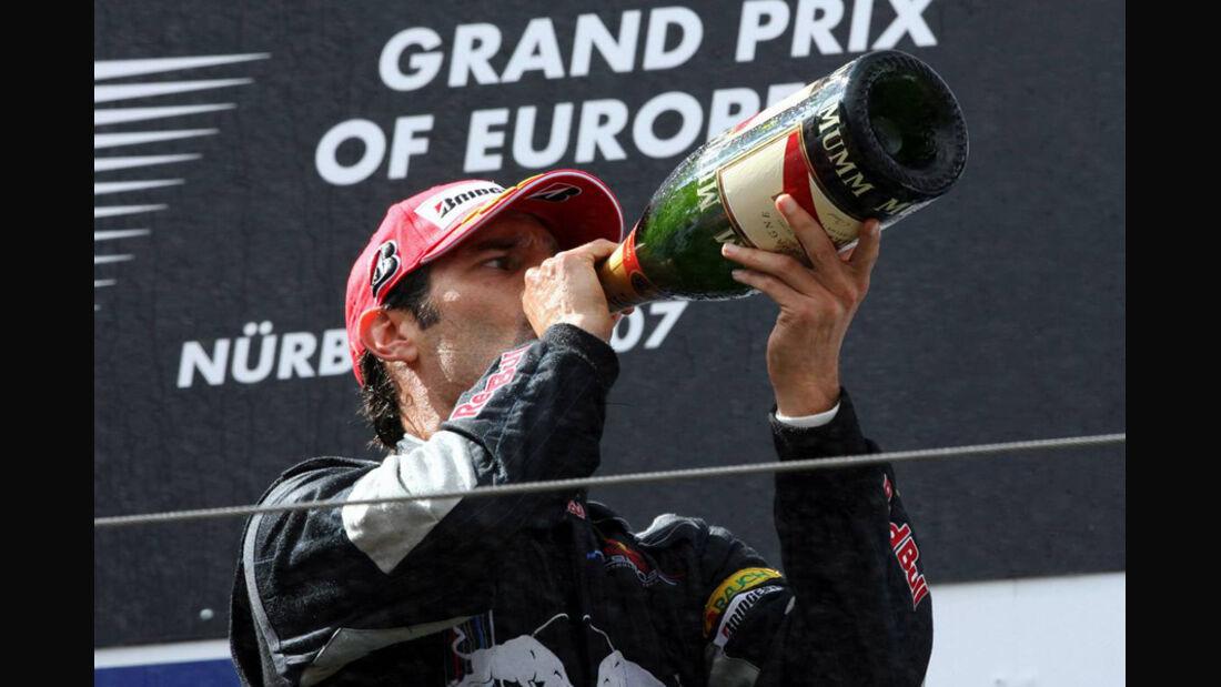 Mark Webber 2007 GP Europa Podium