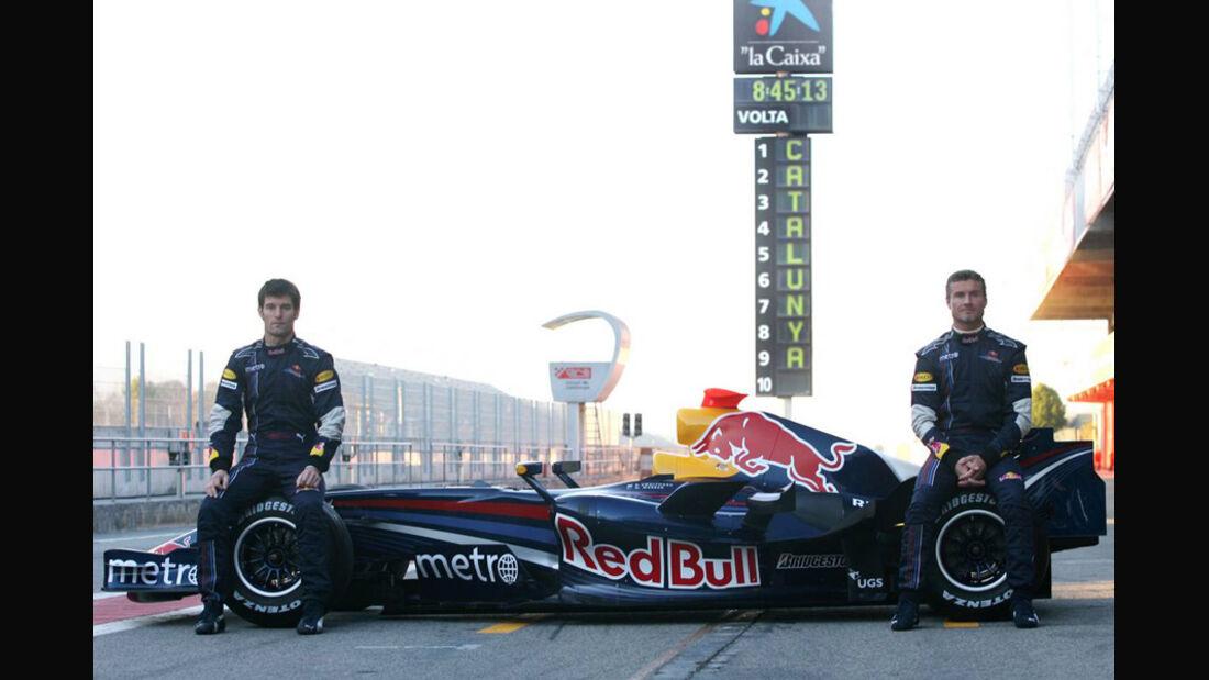 Mark Webber 2007 Red Bull David Coulthard Präsentation