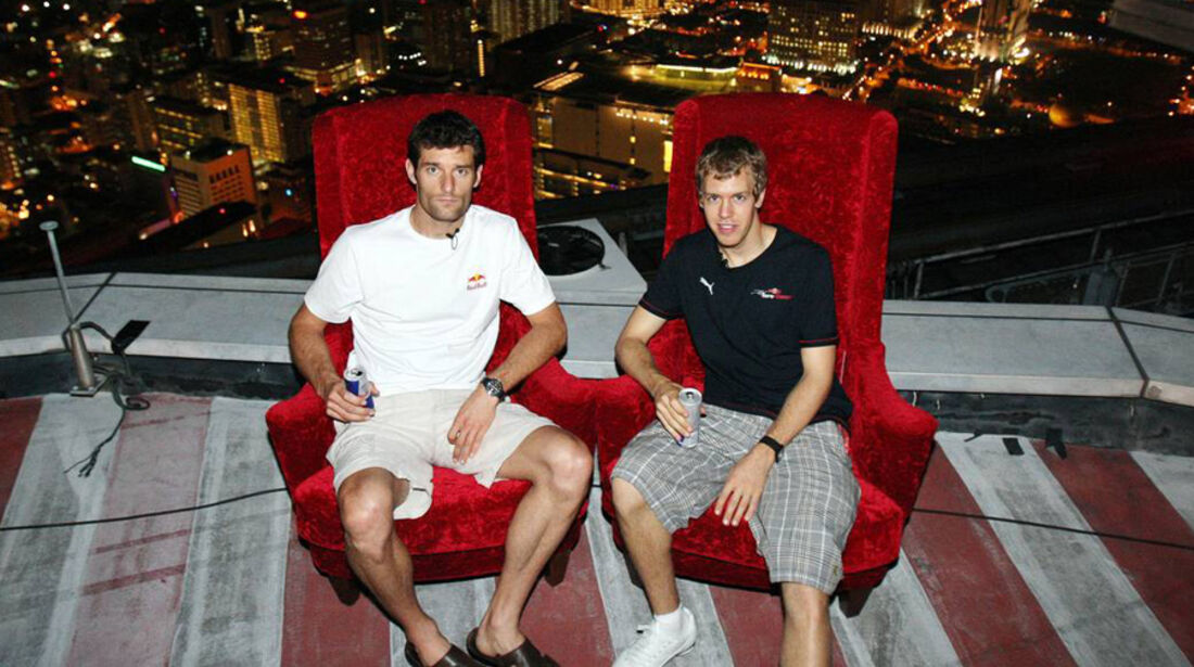 Mark Webber 2008 Vettel GP Singapur