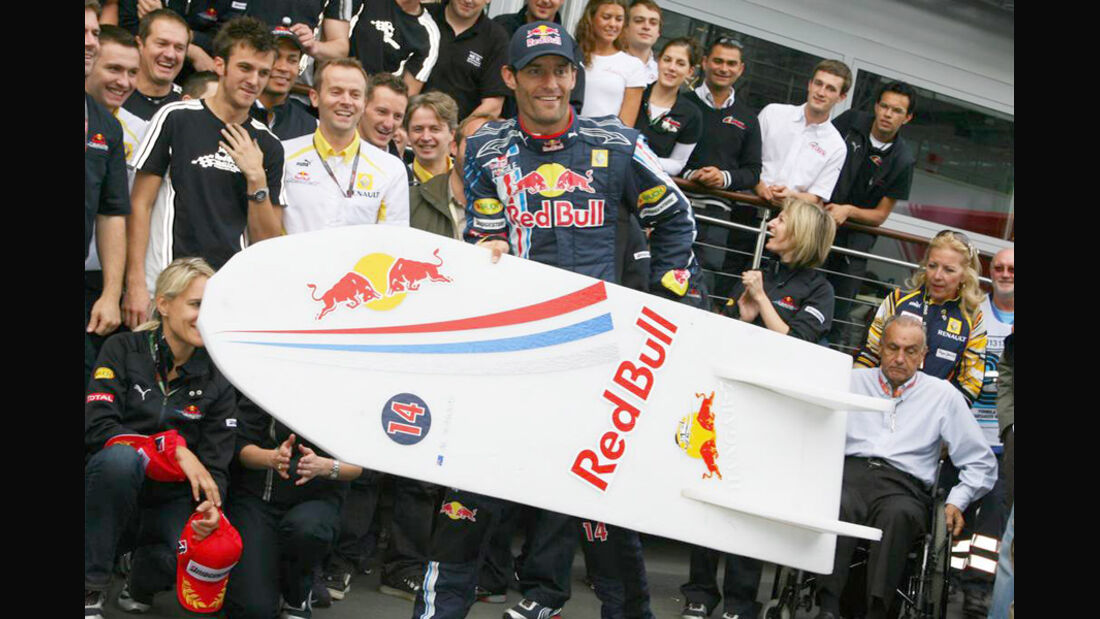 Mark Webber 2009 GP Deutschland Sieg